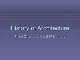 History of Architecture