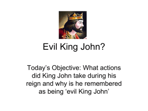 King John Lesson - historynetwork.co.uk