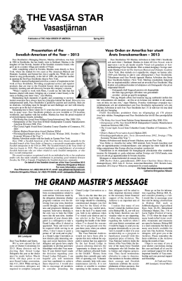 Advertise in the Vasa Star - the Vasa Order of America.