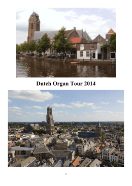 Dutch Organ Tour 2014