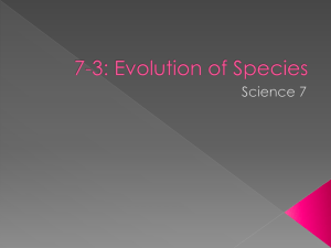 7-3: Evolution of Species