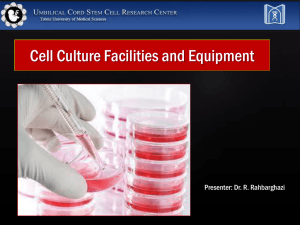 Cell Culture Principles and Techniques