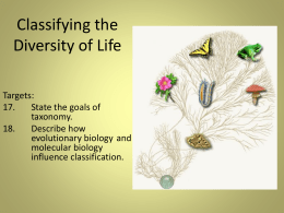Classifying the Diversity of Life