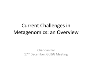 Current Challenges in Metagenomics: an Overview