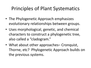 Principles of Plant Systematics