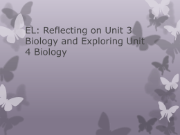Exploring Unit 4 VCE Biology
