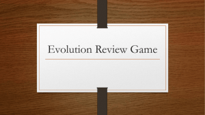 Evolution Review Game