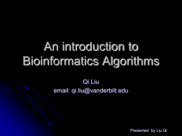 1 an introduction to bioinformatics algorithms