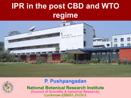 65ipr in the post cbd and wto regime