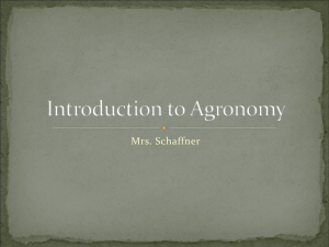 Intro to Agronomy