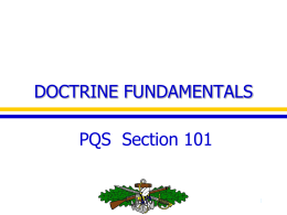 DOCTRINE FUNDAMENTALS