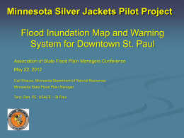 Flood Inundation Map and Warning System for Downtown St. Paul