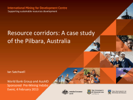 Resources Corridors – Presented to the Harnessing Africa`s Mineral