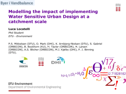 Modelling the impact of implementing Water Sensitive Urban design