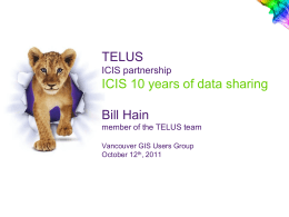 WHAT IS ICIS - GIS Users Group