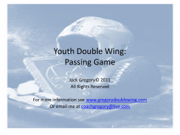 Youth Double Wing: Passing Game