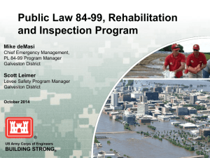 PL84-99 Rehabilitation and Inspection Program