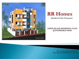 RR Homes Builders & Flat Promoters SUPER DELUXE