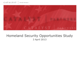 Homeland Security Opportunities Study