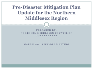 Pre-Disaster Mitigation Plan Update Powerpoint Presentation