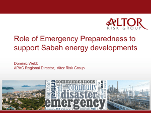 An integrated Risk Management Approach for Supporting Sabah in