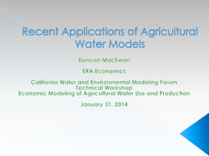 Recent applications of agricultural models