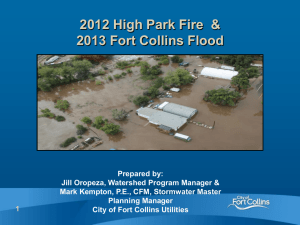 2012 High Park Fire and 2013 Fort Collins Flood