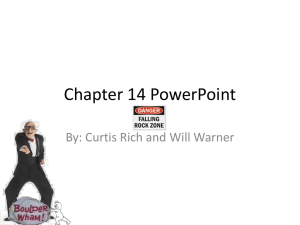 Chapter 14 PowerPoint - Edmond Public Schools
