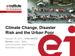 Next steps for Climate Change - e-Institute