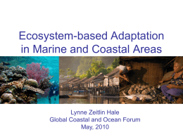 Ecosystem-based Adaptation in Marine and Coastal areas