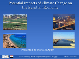 Potential Impacts of Climate Change on the Egyptian