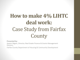 How to make 4% LIHTC deal work: Case Study