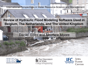 Review of Hydraulic Flood Modeling – Software used in Belgium