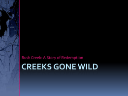Creeks Gone Wild - The Association of State Floodplain Managers