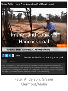 Peter Anderson - Grazier in the land court vs Hancock Coal