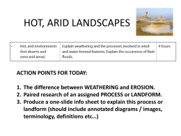 Lesson 3 Arid Landforms- Wind and Water