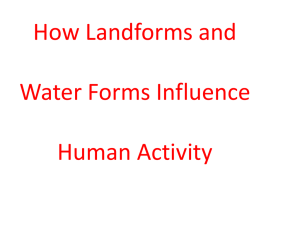 3202 Unit 1-6 Land and Water Forms Influence Humans