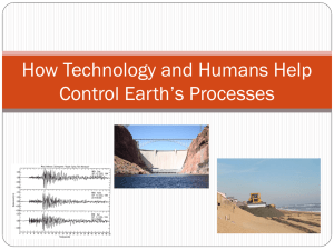 How technology and humans help control Earth*s processes