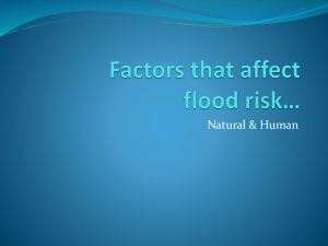 Factors that affect flood risk in drainage basins