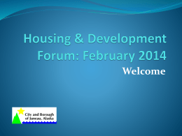 Housing & Development Forum: February 2014