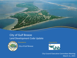 PowerPoint format - City of Gulf Breeze
