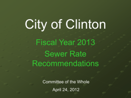 Long Term Control Plan and Sewer Rates