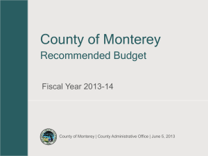 FY 2013-14 Recommended Budget Presentation