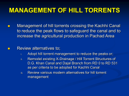 Kaha Hill Torrent Development Project