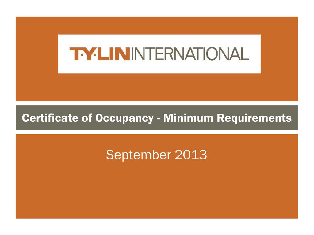 Certificate Of Occupancy Minimum Requirements