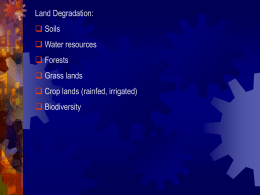 objectives of watershed management