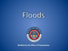 Hazard based training- Floods