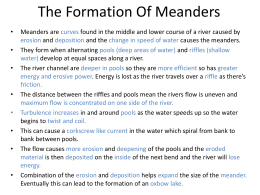 The Formation Of Meanders