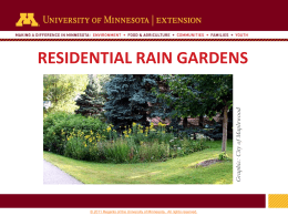 Residential rain gardens - University of Minnesota Extension