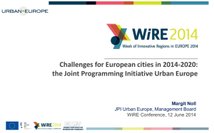 NOLL-JPI-URBAN-EUROPE-WIRE-2014-Session